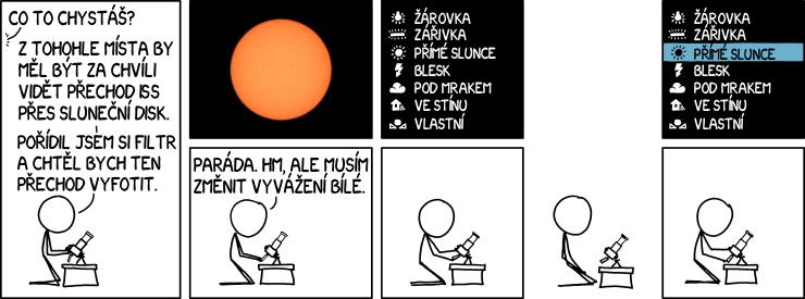 Přechod ISS přes Slunce