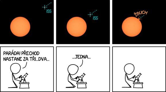 Přechod ISS přes Slunce 2