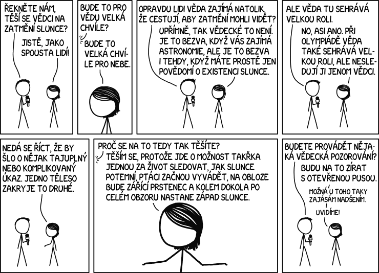 Věda a zatmění